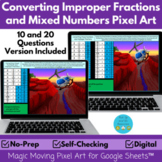 Converting Mixed Numbers and Improper Fractions Pixel Art