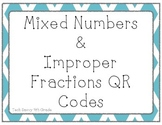 Converting Mixed Numbers and Improper Fractions QR Codes