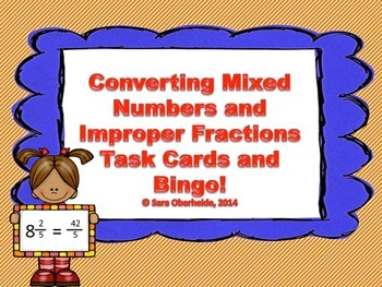 Converting Mixed Numbers and Improper Fractions - Task Car