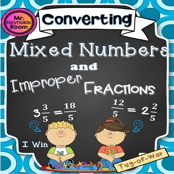 Mixed Numbers and Improper Fractions Math Game