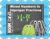Converting Mixed Numbers to Improper Fractions Digital Boo