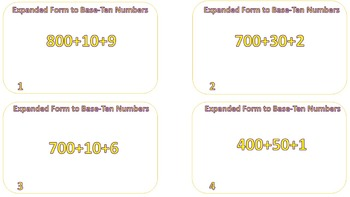 Converting Numbers in Expanded Form to Base-Ten Numbers