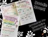 Converting Percents & Decimals - Decorated Notes Brochure for Int. Notebooks