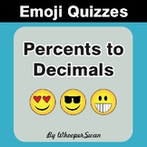 Converting Percents to Decimals Emoji Quiz