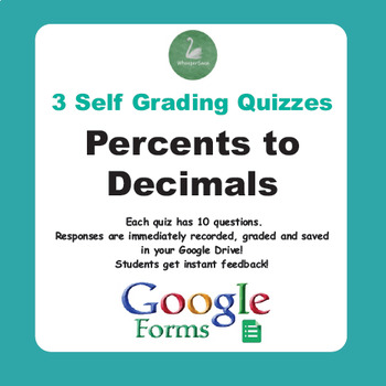Converting Percents to Decimals Quiz  (Google Forms)