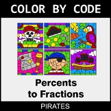 Converting Percents to Fractions - Color by Code / Colorin