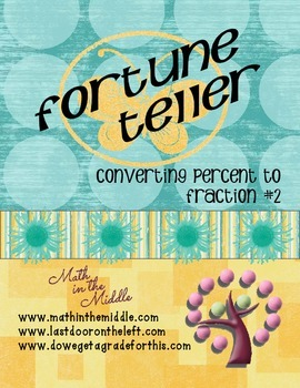 Converting Percents to Fractions Fortune Teller #2