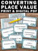 Converting Place Value Task Cards Activities & Games 4th 5