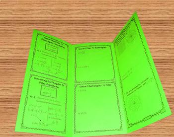 Converting Polar and Rectangular Coordinates Foldable Organizer Tri-Fold
