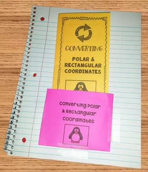 Trigonometry Converting Polar and Rectangular Coordinates Foldable Organizer