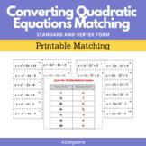 Converting Quadratic Equations Vertex Form Standard Form P