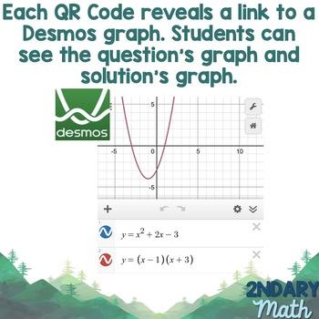 Converting Quadratics Between Standard, Factored, and Vertex Form QR Codes