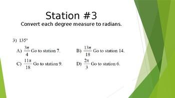 Converting Radian and Degree Measures Scavenger Hunt