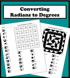 Converting Radians To Degrees Color Worksheet