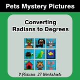 Converting Radians To Degrees - Math Mystery Pictures / Co