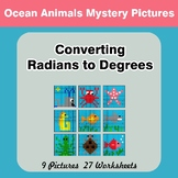 Converting Radians To Degrees - Math Mystery Pictures - Oc
