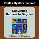 Converting Radians To Degrees - Math Mystery Pictures - Pirates