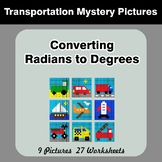 Converting Radians To Degrees - Math Mystery Pictures - Tr