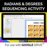 Converting Radians and Degrees Activity for GOOGLE SLIDES™