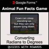 Converting Radians to Degrees | Animal Fun Facts Game | Go
