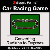 Converting Radians to Degrees | Car Racing Game | Google Forms