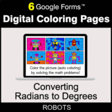 Converting Radians to Degrees - Digital Coloring Pages | G