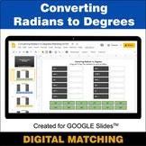 Converting Radians to Degrees - Google Slides - Distance L