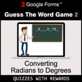 Converting Radians to Degrees | Guess The Word Game | Goog