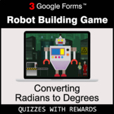 Converting Radians to Degrees | Robot Building Game | Goog