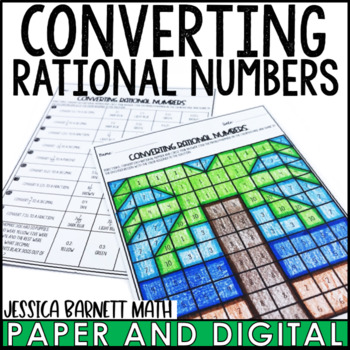 Converting Rational Numbers Coloring Page Activity