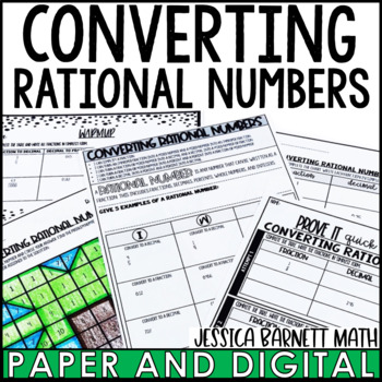Converting Rational Numbers Lesson Bundle