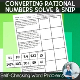 Converting Rational Numbers Solve and Snip
