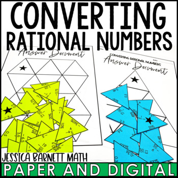 Converting Rational Numbers Triangle Puzzle