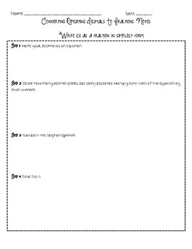 Converting Repeating Decimals to Fractions Notes