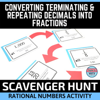 Converting Repeating and Terminating Decimals Into Fractions Activity