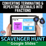 Converting Repeating and Terminating Decimals Into Fractions Digital Activity