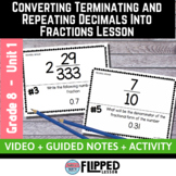 Converting Repeating and Terminating Decimals Into Fractions Lesson