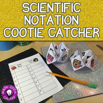 Scientific Notation Cootie Catcher