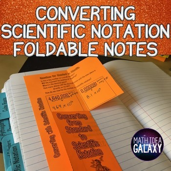 Converting Scientific Notation Foldable Notes