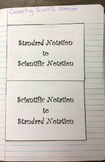 Converting Scientific Notation Foldable Notes SOL(2016) 7.1b