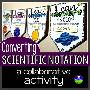 Converting Scientific Notation Pennant