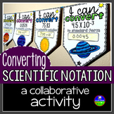Converting Scientific Notation Math Pennant Activity
