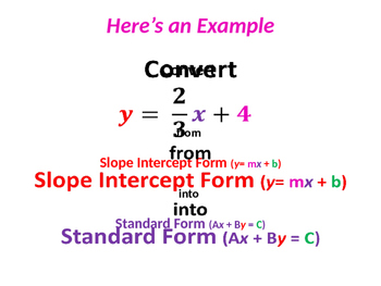 slope intercept form standard form  Slope-intercept Form From Standard Form Worksheets ...