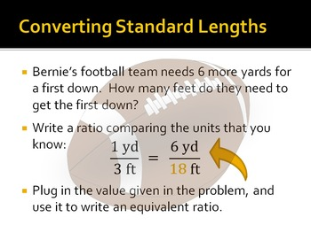 Converting Standard Lengths with Sports - PowerPoint Show
