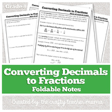 Converting Terminating and Repeating Decimals to Fractions