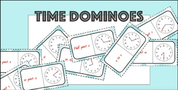 Converting Time Dominoes - Written to Analog Time