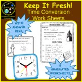 Converting Time Work Sheets (8 Worksheets)