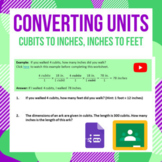Converting Units Cubit to Inches and Inches to Feet Digita