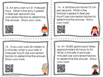 Converting Units Dimensional Analysis Task Cards