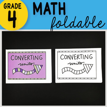 Doodle Notes - Converting Units Math Interactive Notebook Foldable